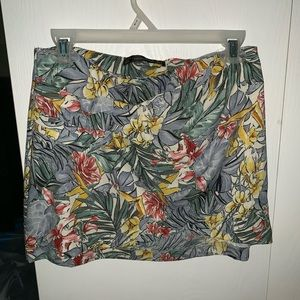 Zara Tropical Wrap Mini Skirt